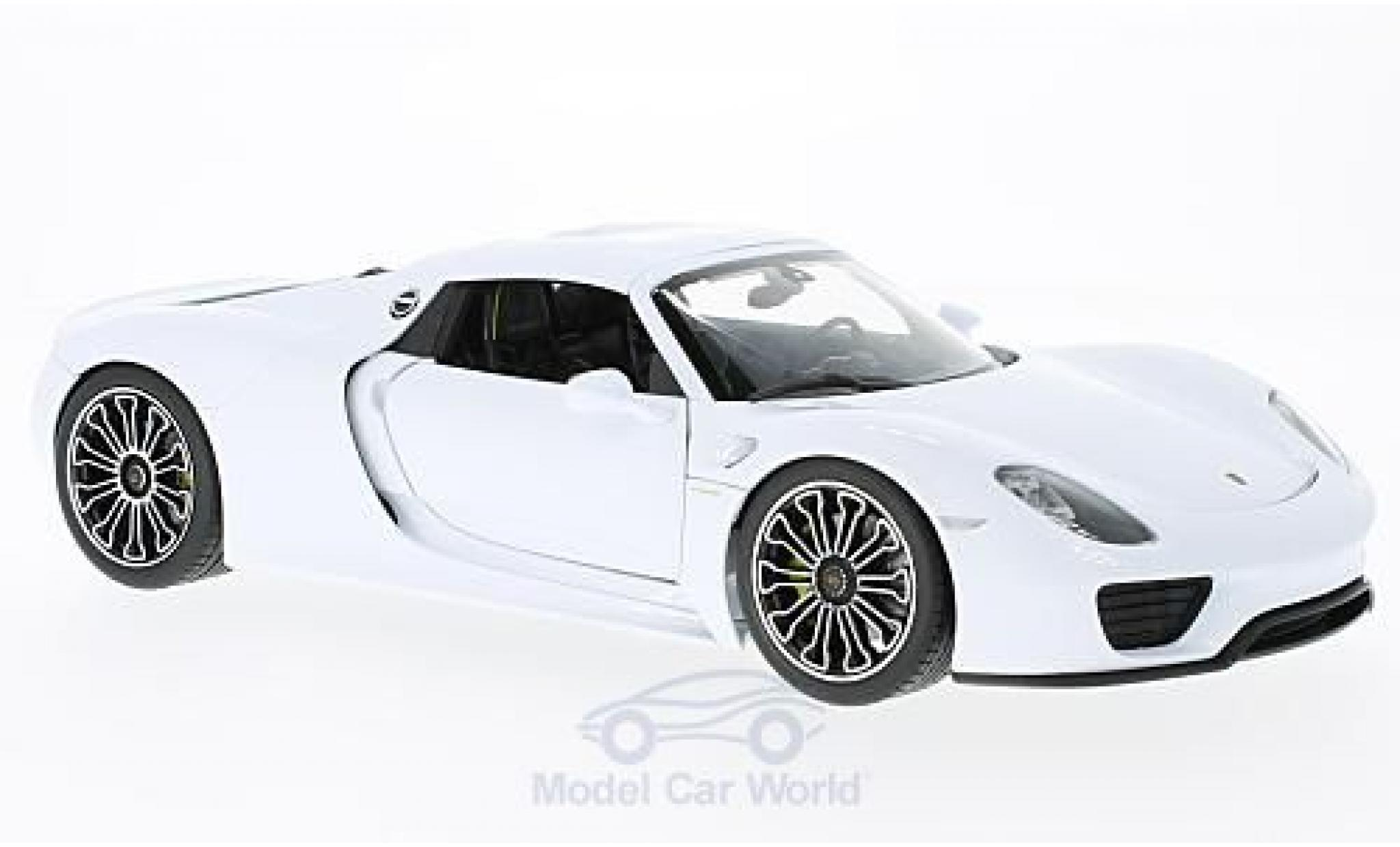 Porsche 918 1/18 Welly Spyder white/black 2011 Hard Top ohne Vitrine
