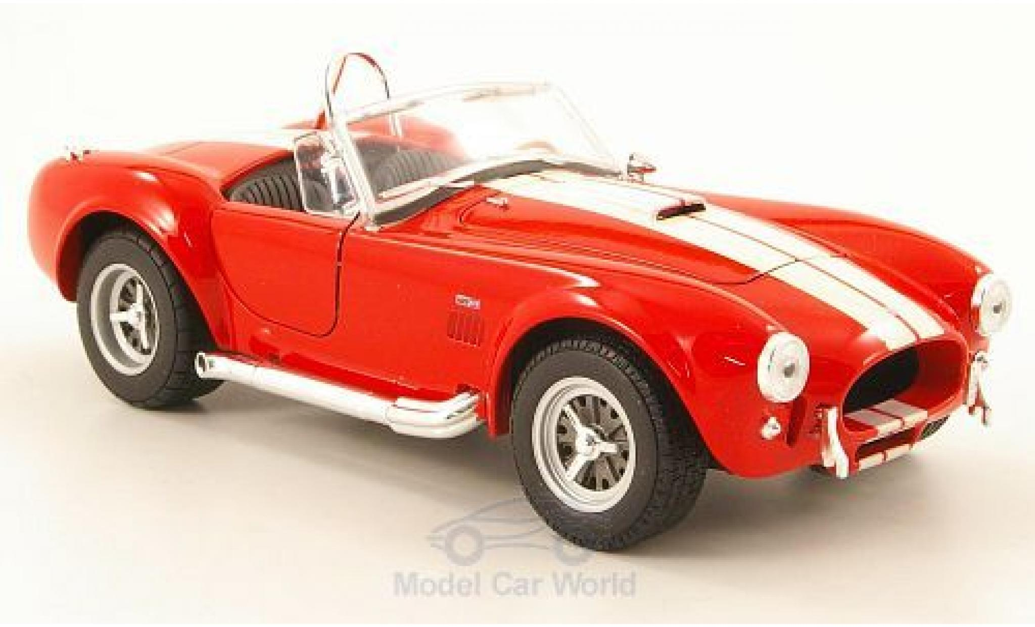 Shelby Cobra 1/24 Welly 427 SC rouge/beige 1965