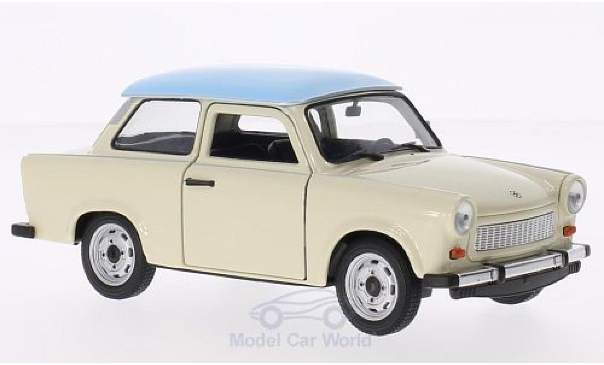 Trabant 601 1/24 Welly beige/bleue