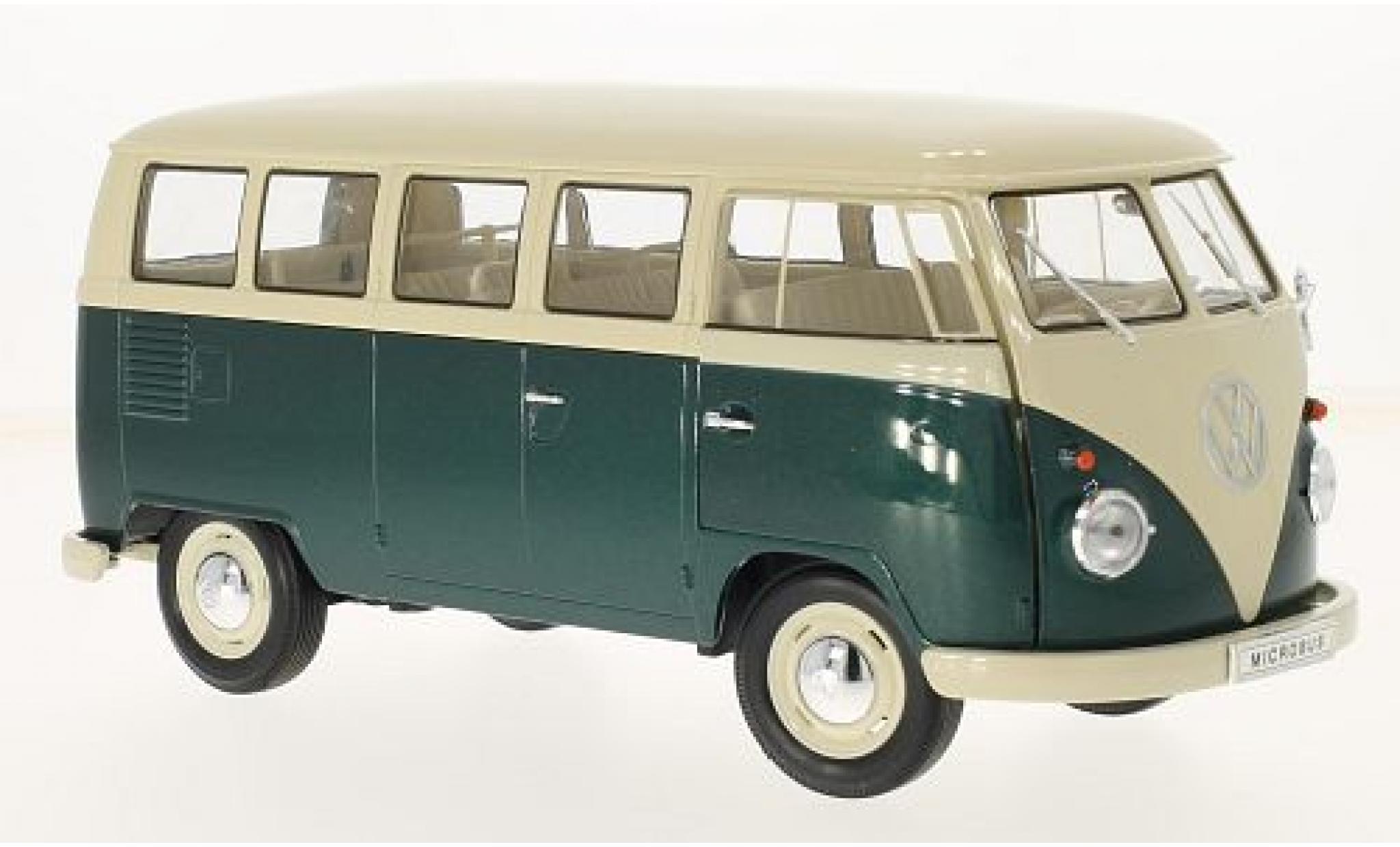 Volkswagen T1 1/18 Welly beige/grün 1963 bus