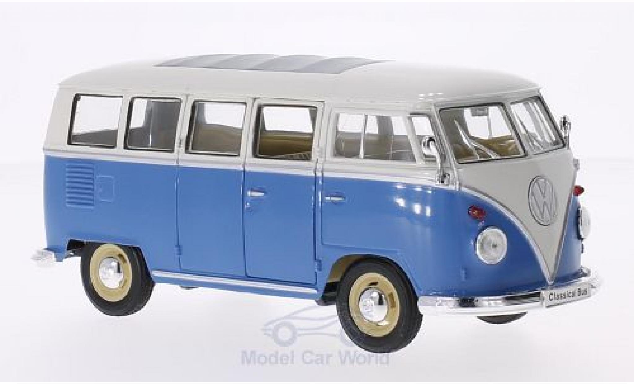 Volkswagen T1 B 1/24 Welly us blau/weiss 1963