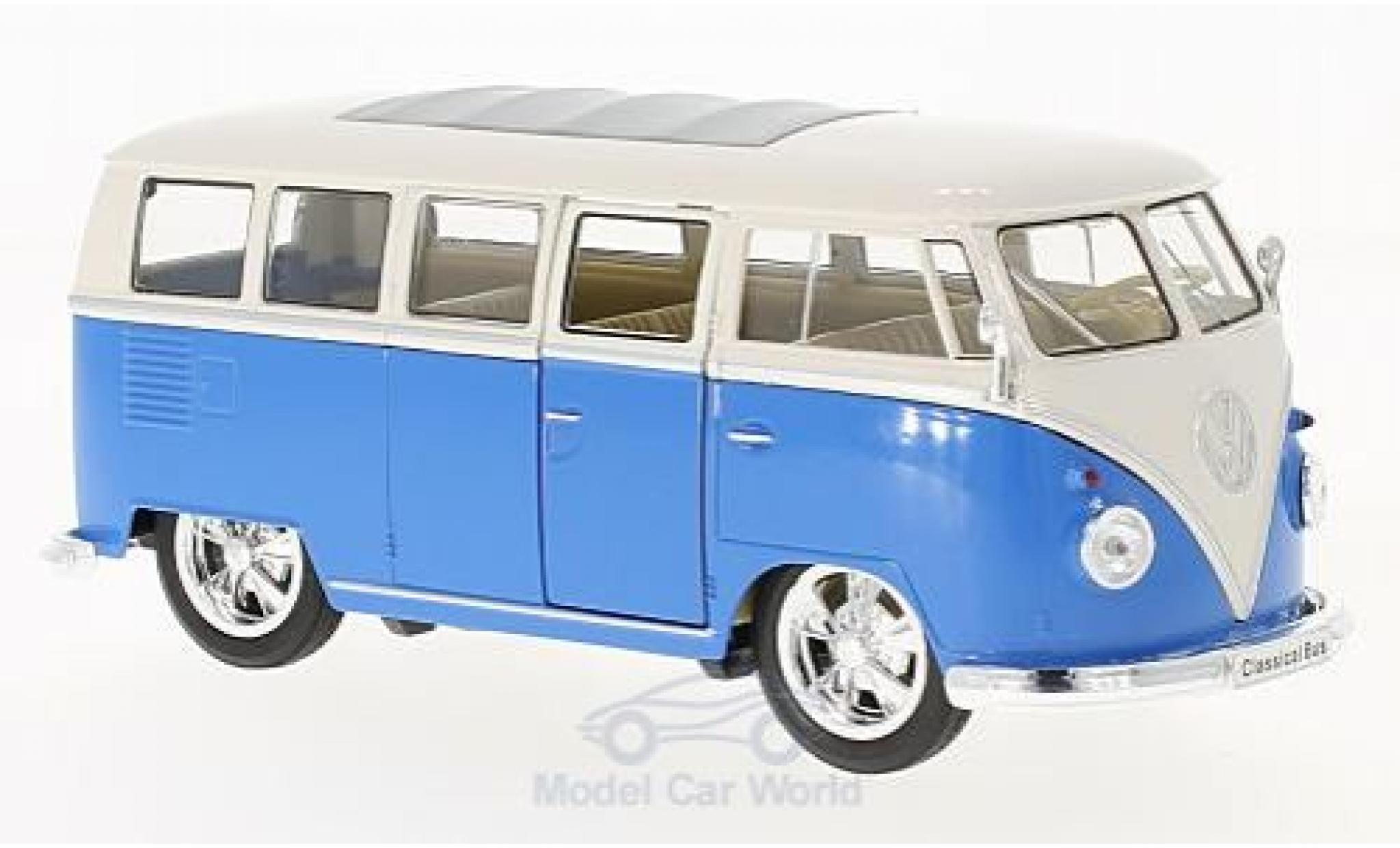 Volkswagen T1 B 1/24 Welly us Low Rider blau/weiss 1963
