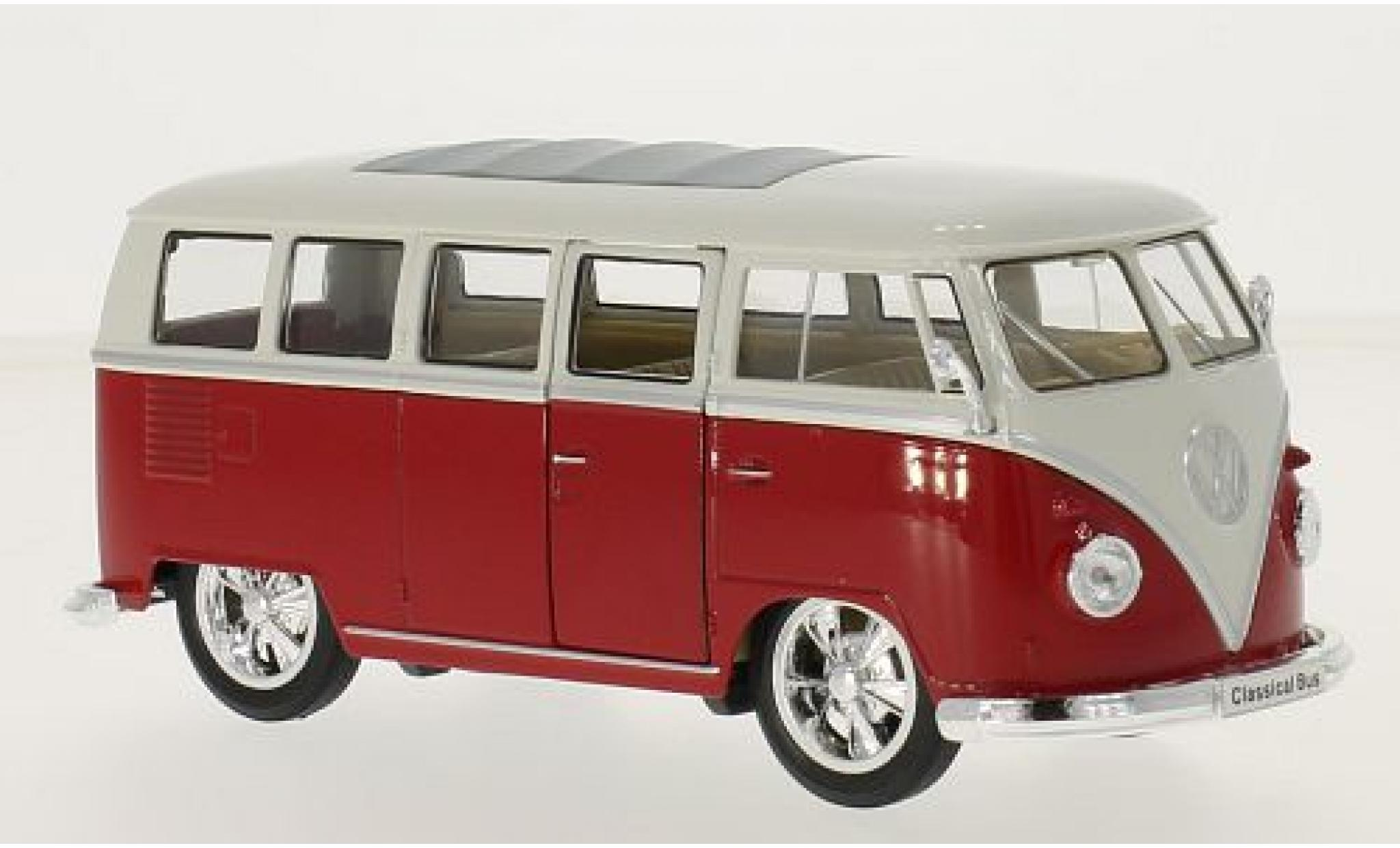 Volkswagen T1 1/24 Welly Bus Low Rider rot/weiss 1963