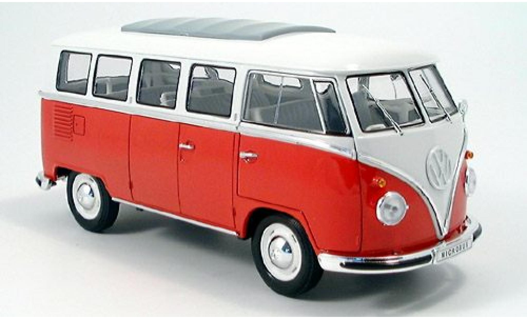 Volkswagen T1 1/18 Welly Bus rot/weiss 1962