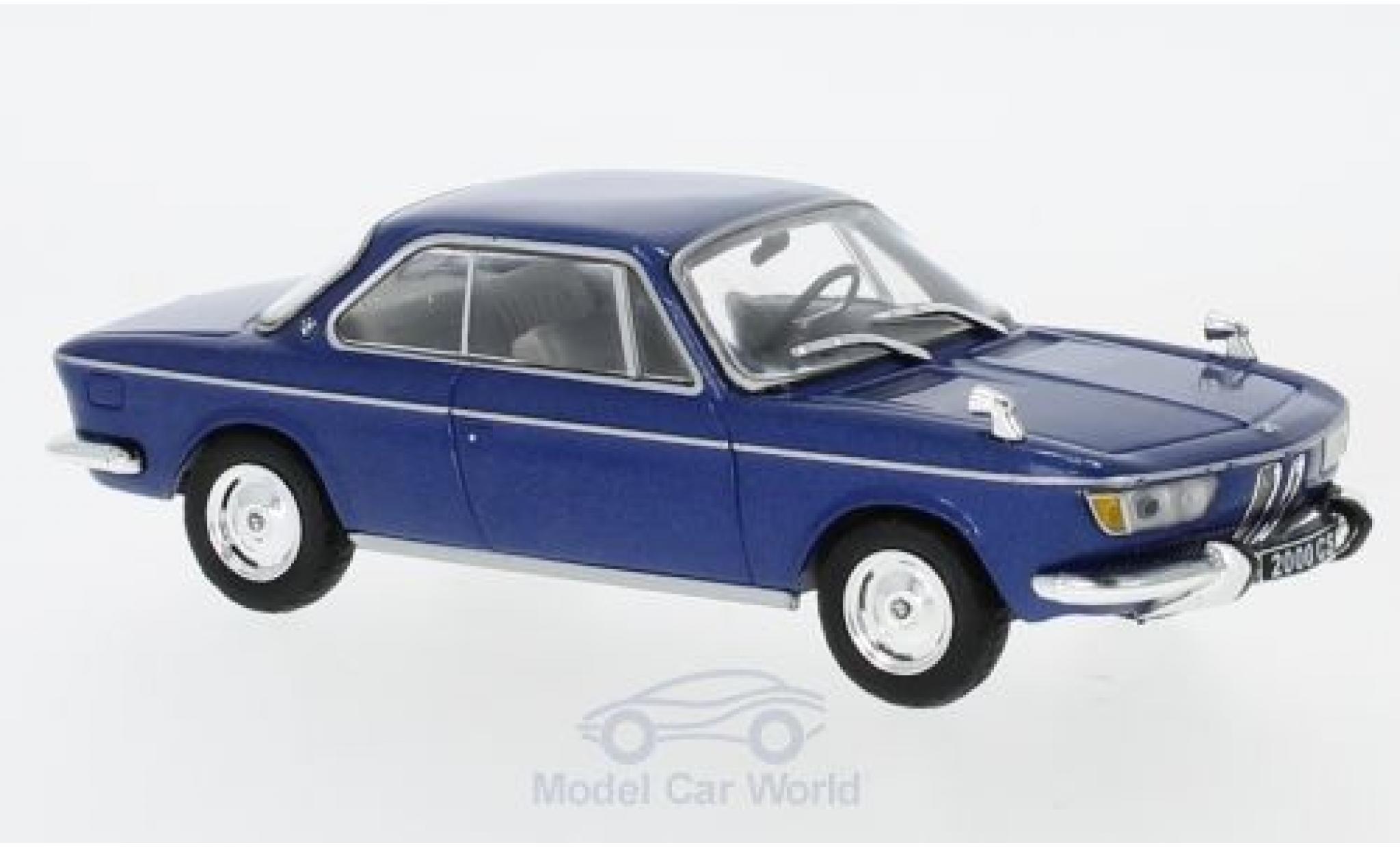 Bmw 2000 CS 1/43 WhiteBox BMW CS metallic-blue 1966