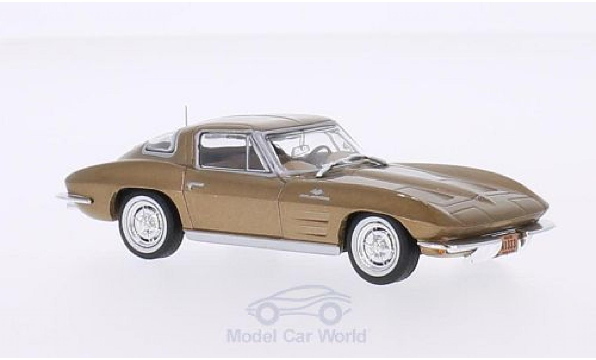 Chevrolet Corvette C2 1/43 WhiteBox Stingray gold 1963