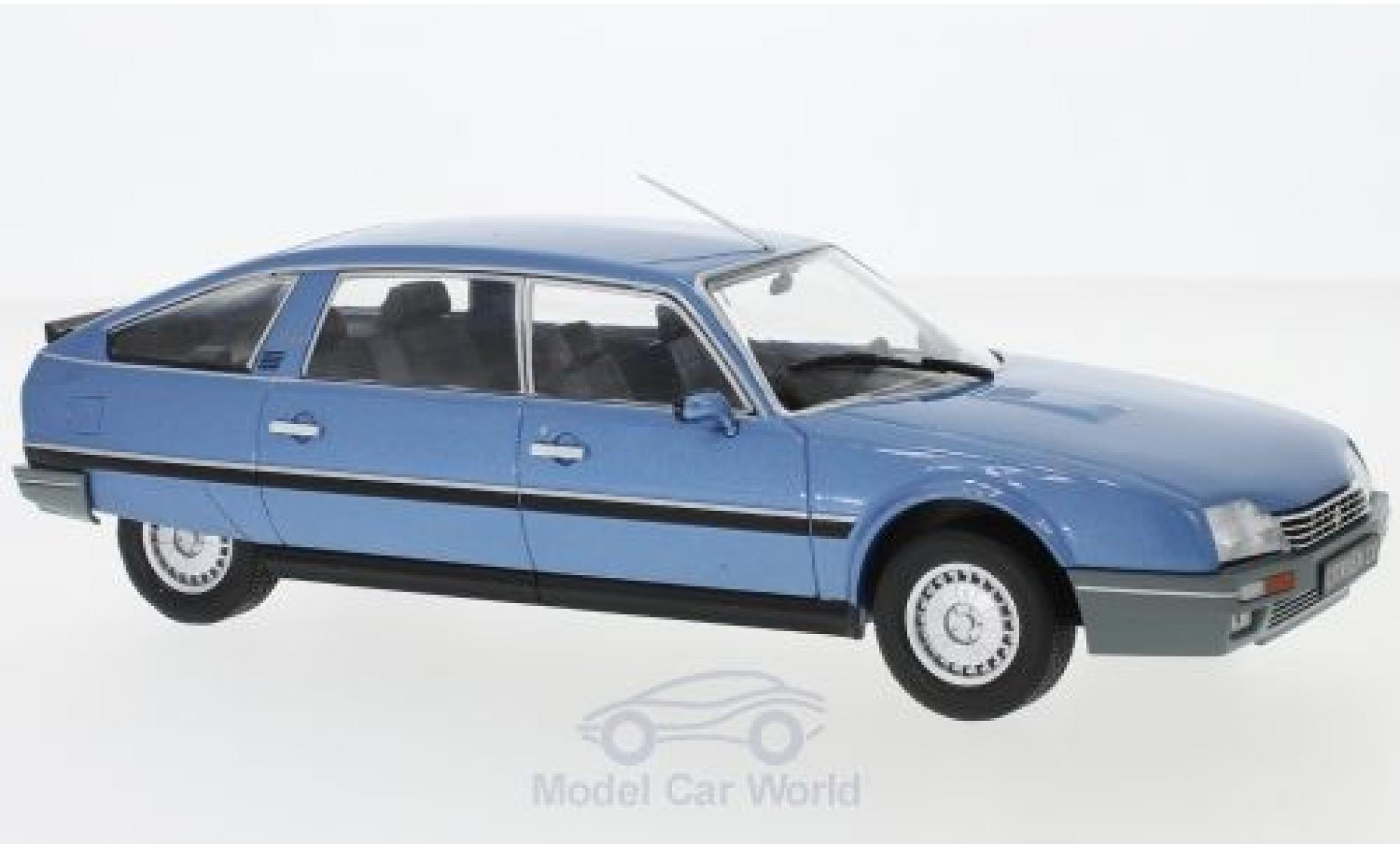 Citroen CX 1/24 WhiteBox 2500 Prestige Phase 2 métallisé bleue 1986