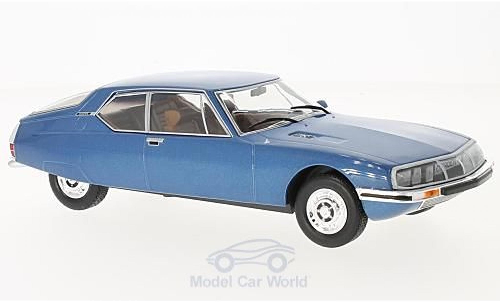 Citroen SM 1/24 WhiteBox metallic-bleue 1970