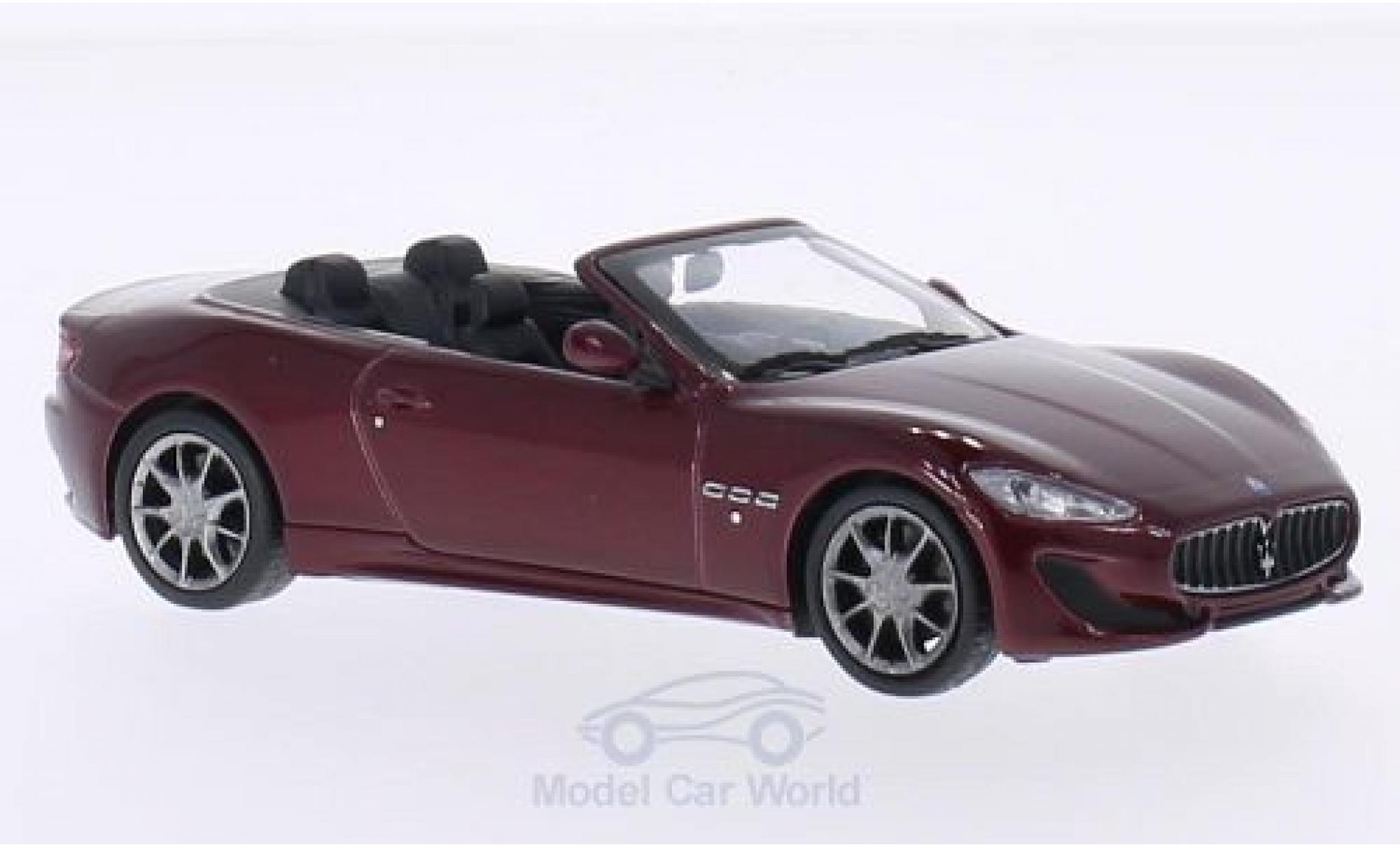 Maserati GranCabrio 1/43 WhiteBox Sport rouge 2013