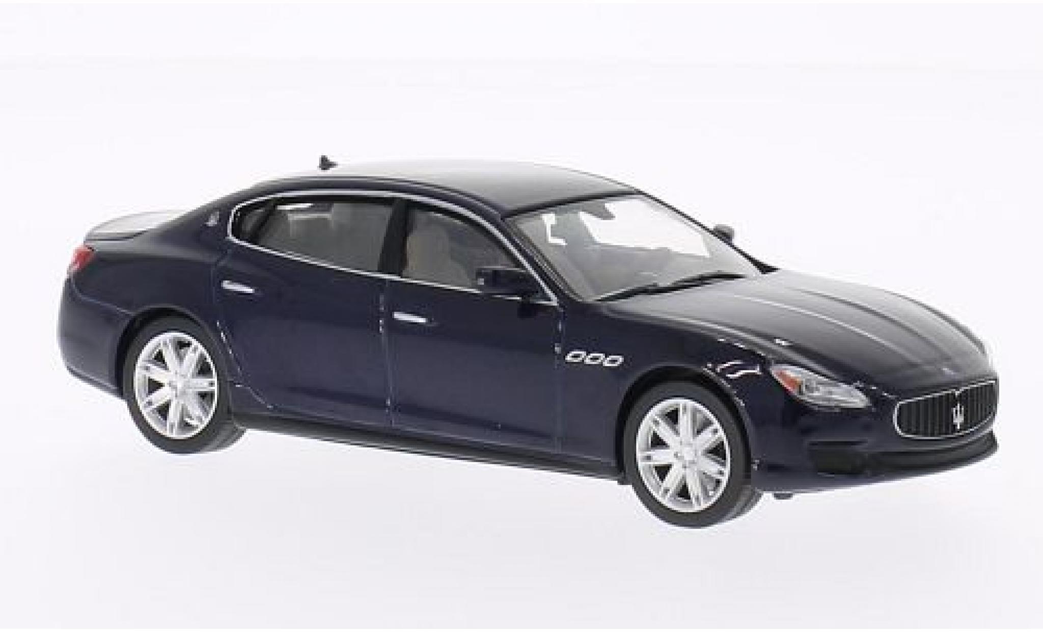 Maserati Quattroporte 1/43 WhiteBox GTS metallise bleue 2013