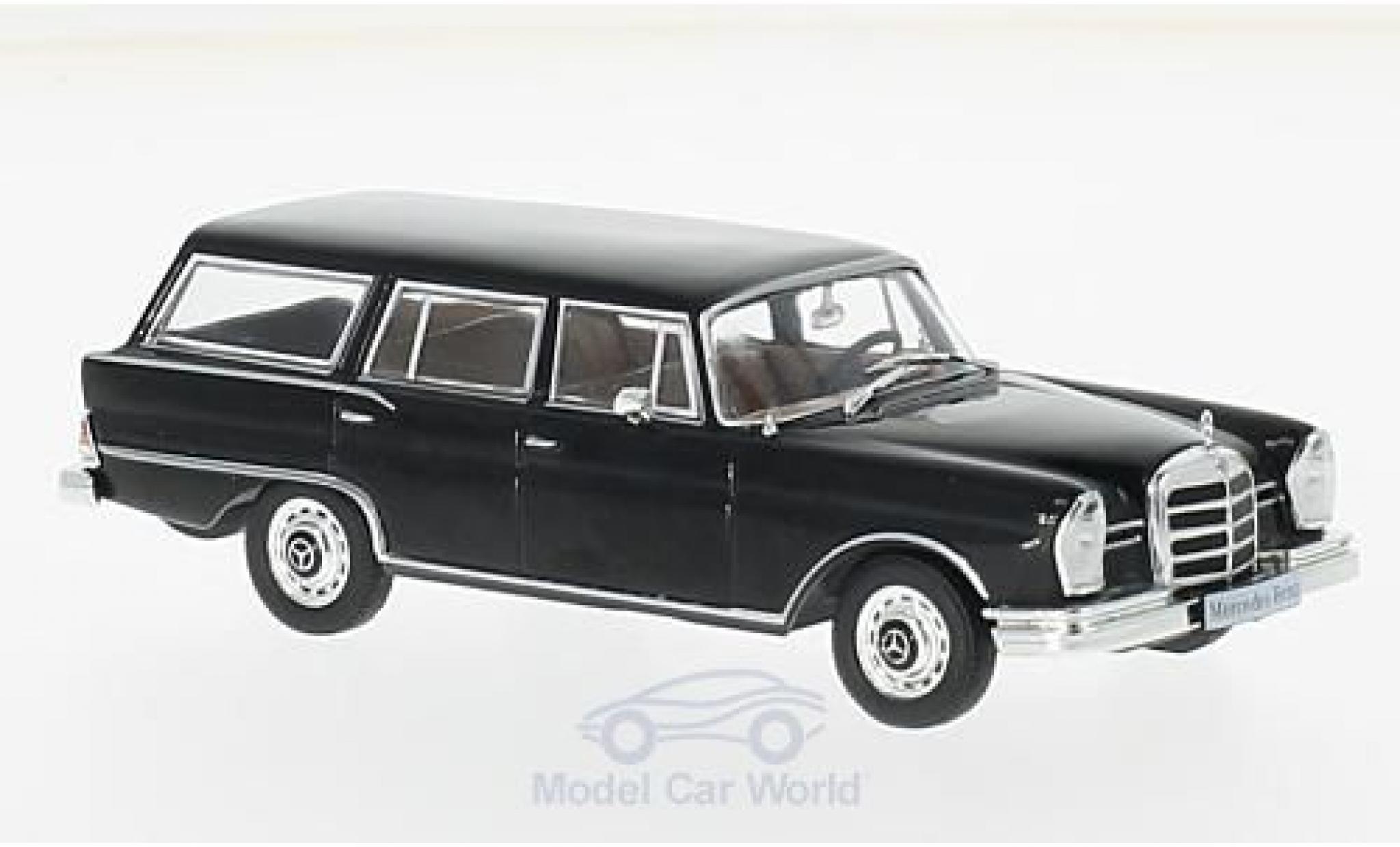Mercedes 230 1967 1/43 WhiteBox S Universal noire 1967