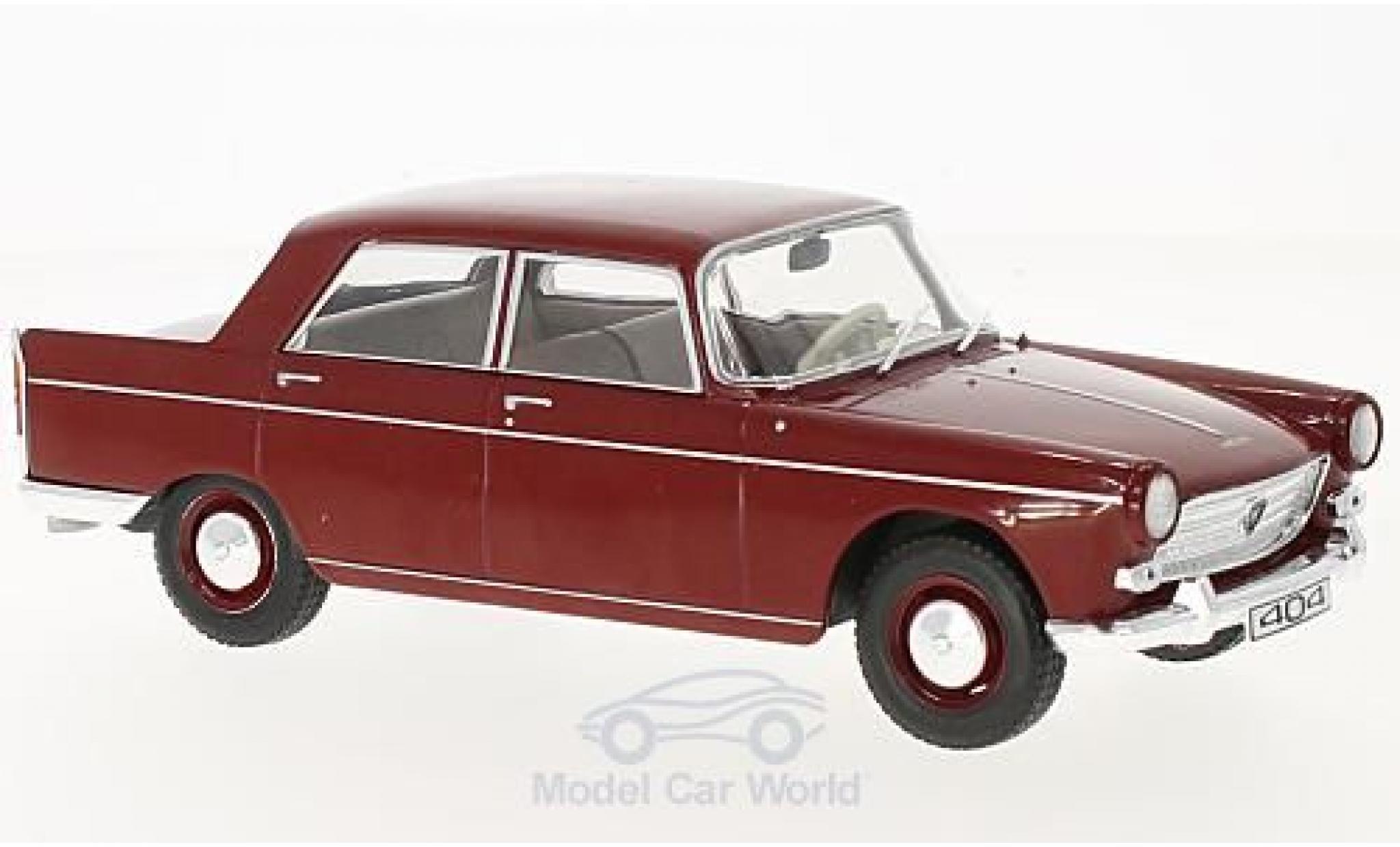 Peugeot 404 1/24 WhiteBox dunkelrouge 1960