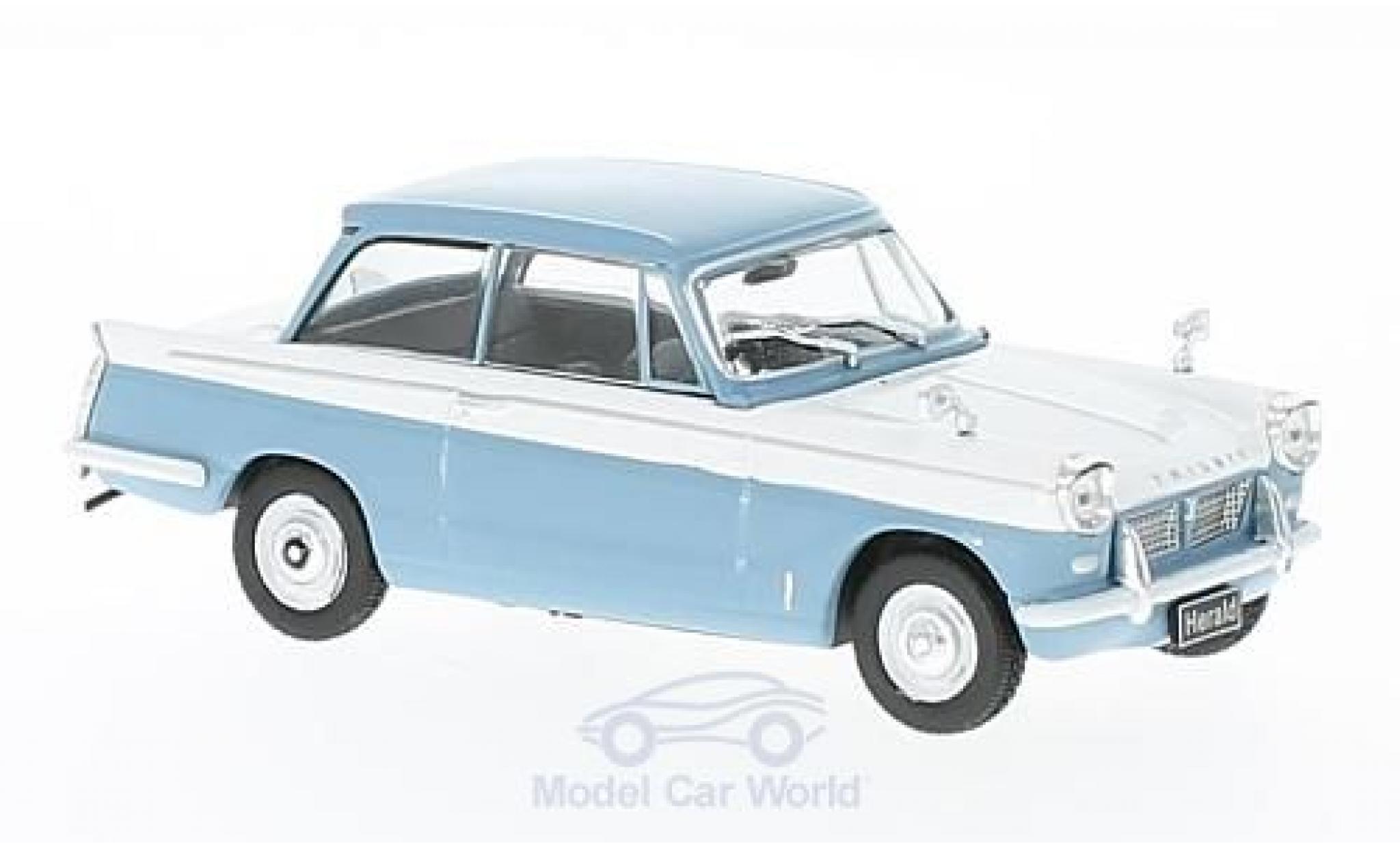 Triumph Herald 1/43 WhiteBox bleue/blanche RHD 1959