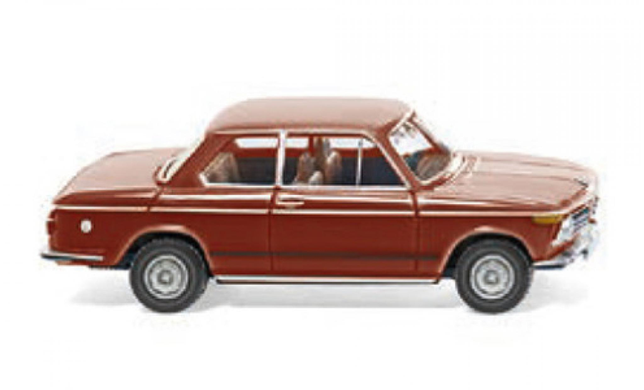 Bmw 2002 1/87 Wiking rouge 1968