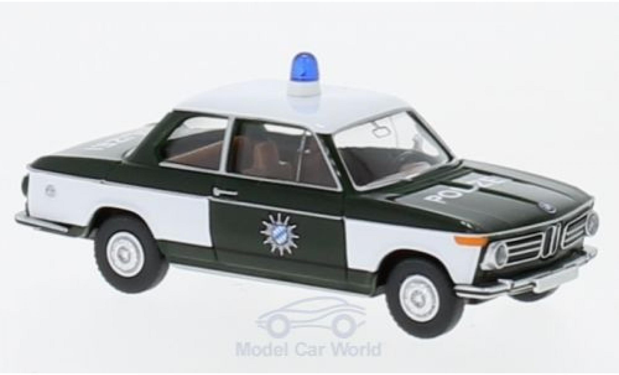 Bmw 2002 1/87 Wiking Polizei