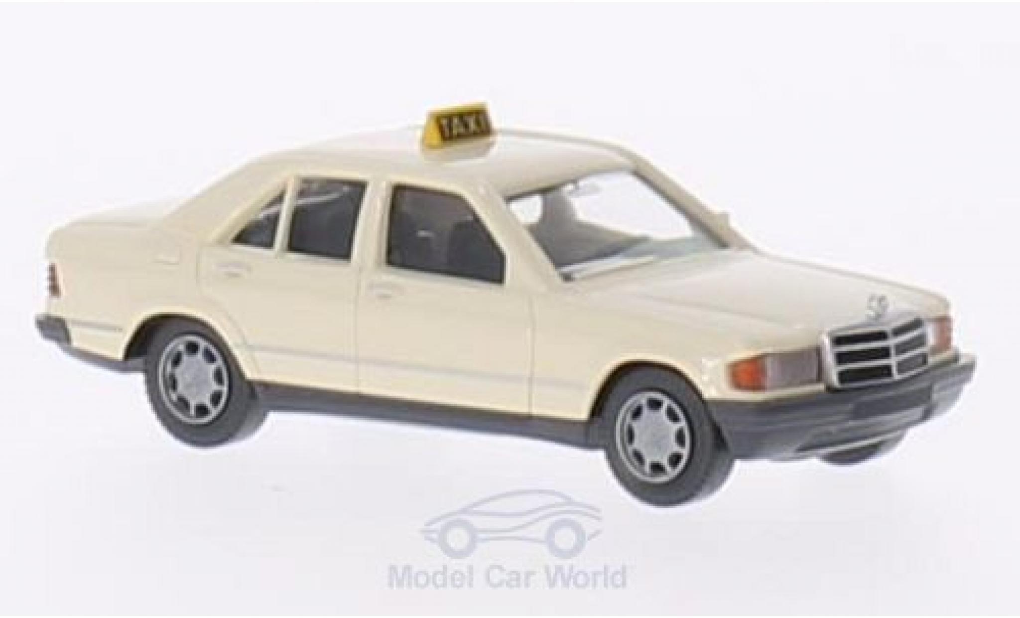 Mercedes 190 E 1/87 Wiking D (W201) hellbeige Taxi (D)
