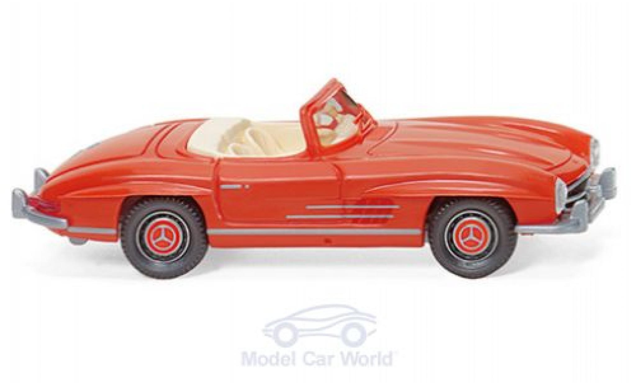 Mercedes 300 1/87 Wiking SL Roadster rouge 1957