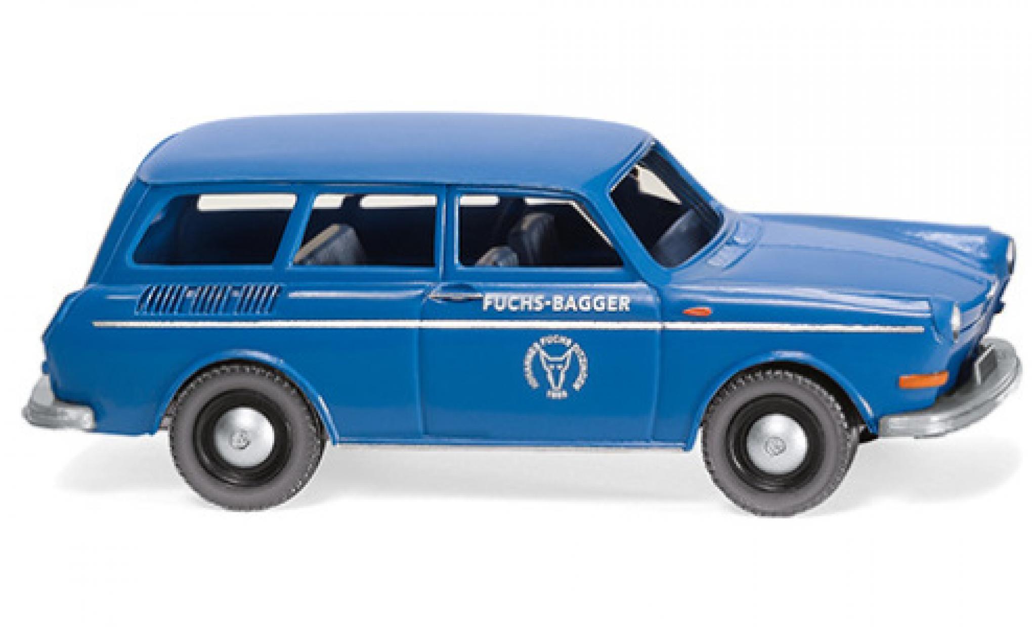 Volkswagen 1600 1/87 Wiking Variant Fuchs-Bagger Kundendienst 1969