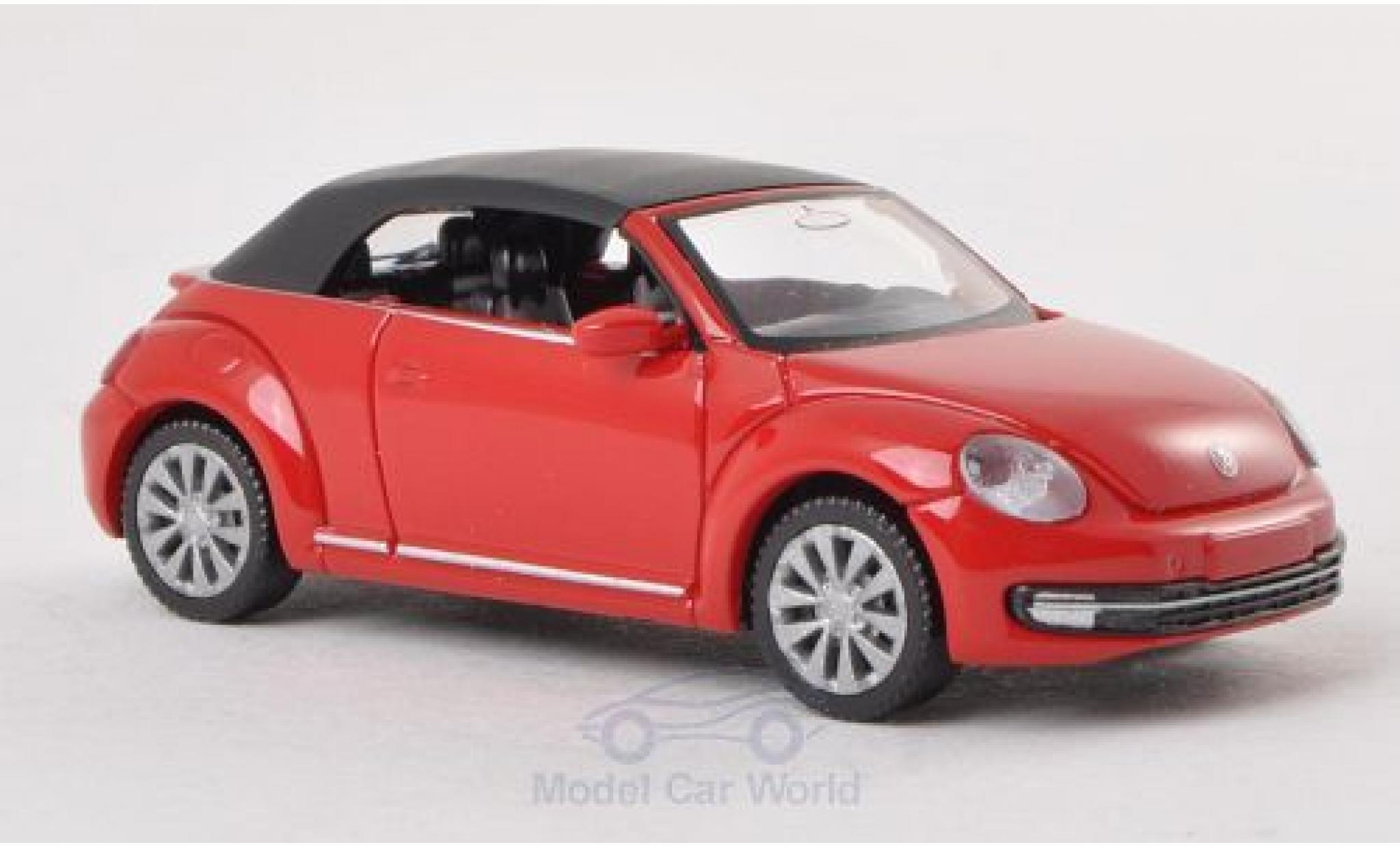 Volkswagen Beetle Cabriolet 1/87 Wiking rouge geschlossen