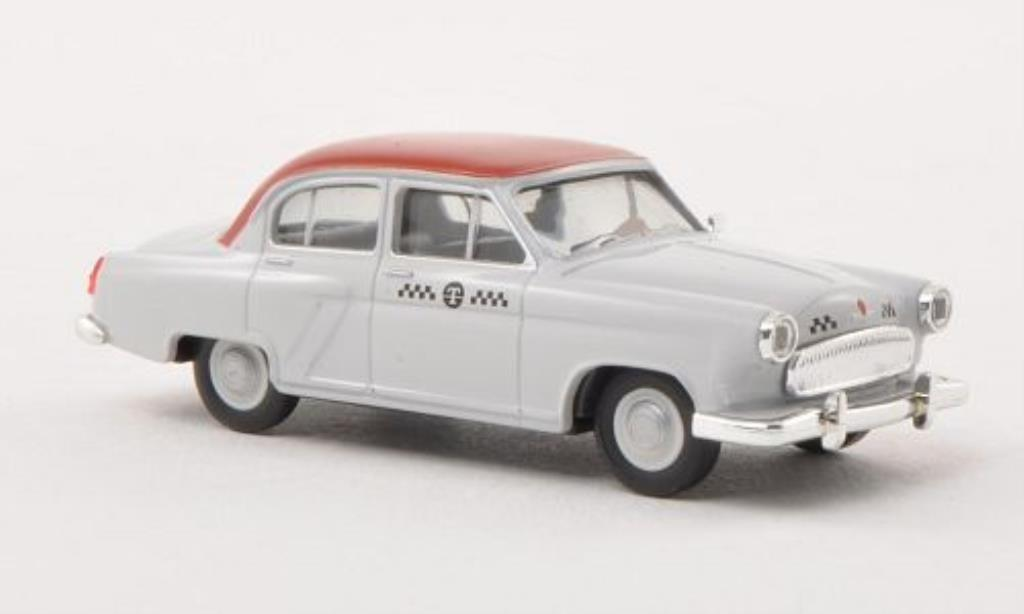 Wolga M21 1/87 Herpa Taxi grise/rouge miniature