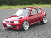 Peugeot tuning 205 GTI Dimma preparation tuning