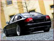 Audi tuning A8 black wheels 20 pouces