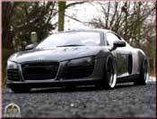 Audi tuning R8 4.2. FSI v8 gray antracite wheels 21 inches prepa moteur