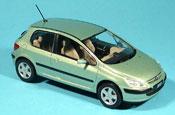 Peugeot 307 miniature XT verte 3 portes