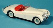 Jaguar XK 120 miniature spider blanche offen 1948
