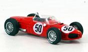 Miniature Ferrari 156 1961  f1 no.50 baghetti sieger gp frankreich