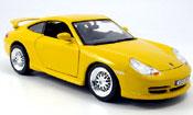 Porsche 996 GT3  jaune strassenversion Burago