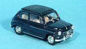 Fiat 600 D blue geschlossen 1960