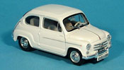 Fiat 600   D blanche Scuola Guida 1960 Brumm