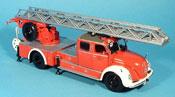 Magirus DL 30 S 6500 vigile del fuoco Leiterwagen rouge   blanche 1955