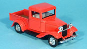 Ford 1934 miniature Pick up rouge 1934