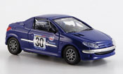 Peugeot 206 CC  racing 2001 Solido 1/43