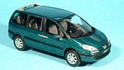 Peugeot 807 miniature verte 2002