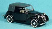 Fiat 1100 1937 miniature Cabriolet (508 C) black