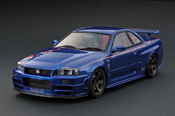 Nissan Skyline R34  Nismo GT-R Z-tune Bayside Blue (NISMO FESTIVAL 2013 MEMORIAL EDITION) IG0010 Ignition-Model 1/18