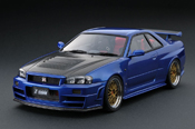 Nissan Skyline R34  Nismo GT-R Z-tune Bayside Blue IG0017 Ignition-Model 1/18