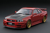 Nissan Skyline Ignition-Model R34 Nismo GT-R Z-tune rouge IG0016
