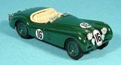 Jaguar XK 120 miniature le mans no. 16 verte