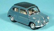 Miniature Fiat 600   D geschlossen bleugrise 1960