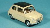 Fiat 600   D geschlossen beige 1960 Brumm