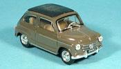 Fiat 600   D geschlossen marron 1960 Brumm