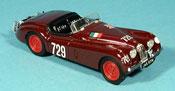 Jaguar XK 120 miniature mille miglia 1950