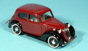 Fiat 1100 1937 miniature ( 508c.) Bicolore weinred black
