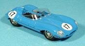 Jaguar Type D miniature 1954 hp 260 bleu no. 17
