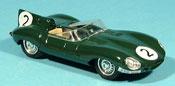 Jaguar Type D miniature 1956 le mans no. 2 paul frere