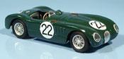 Jaguar Type C miniature no. 22 moss fairman le mans 1951